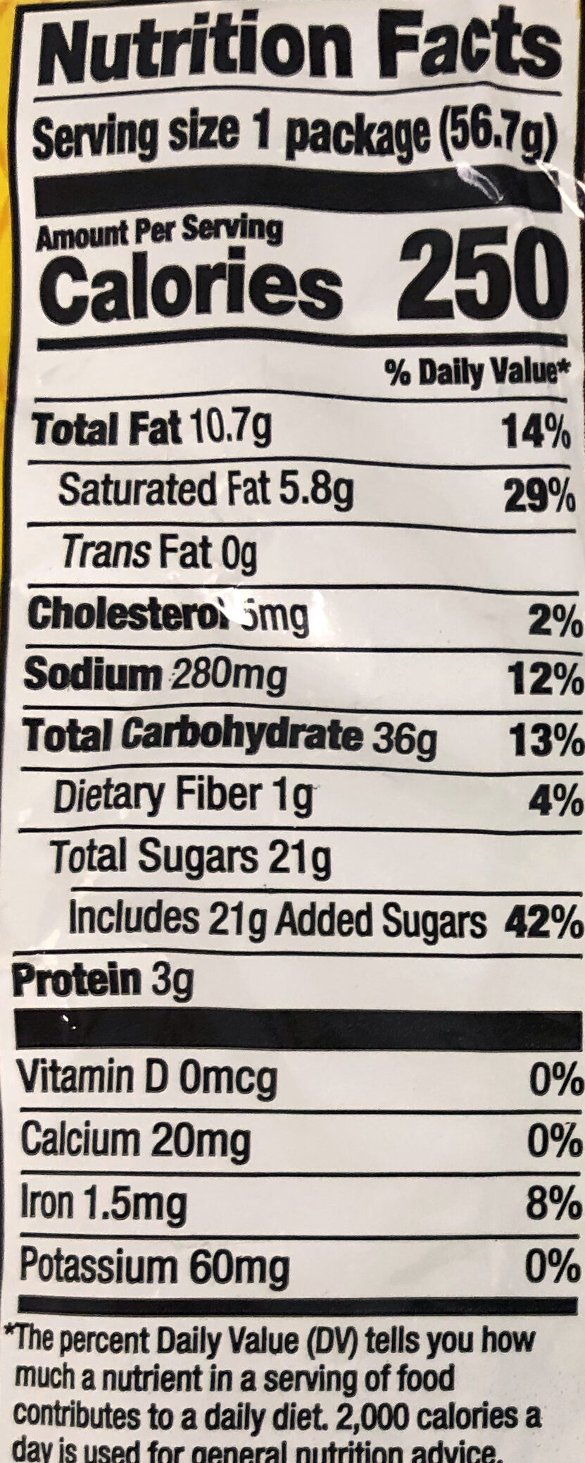 Chocolate Chippers - Nutrition facts