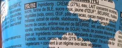 Glace - Ingredients
