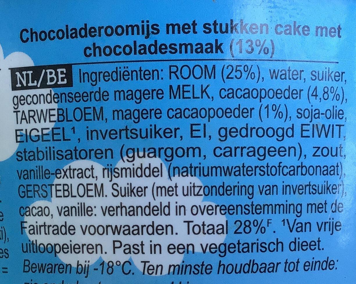 Chocolate Fudge Brownie - Ingrediënten - nl