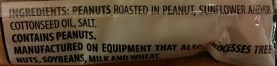 Roasted Salted Peanuts - Ingredients