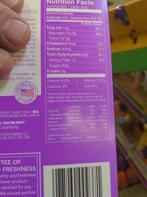 Solid milk chocolate - Ingredients - en