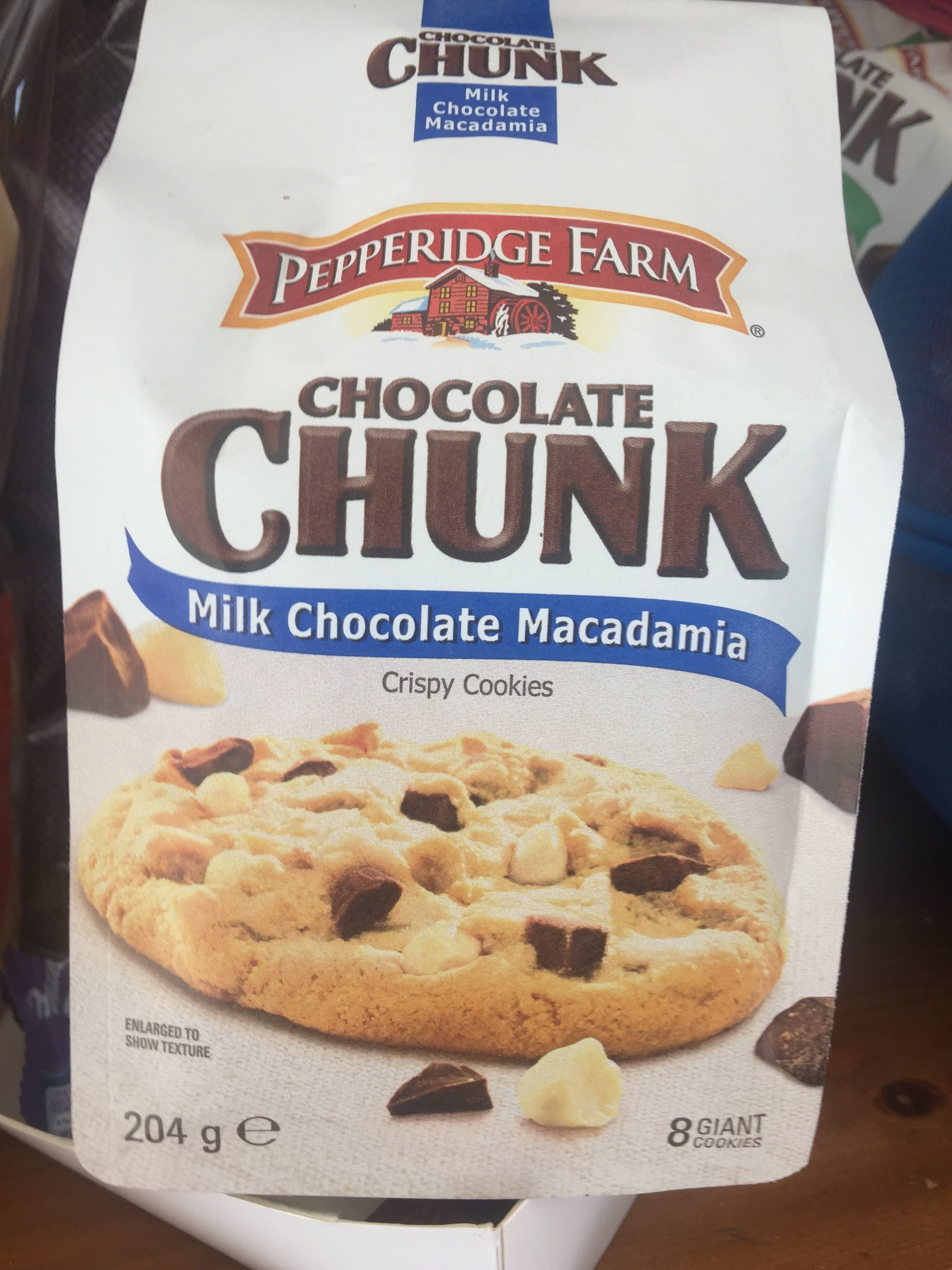 Pepperidge Farm Chocolate Chunk Milk Chocolate Macadamia - Product - fr