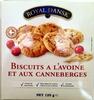 Biscuits à l'avoine et aux canneberges - Produit
