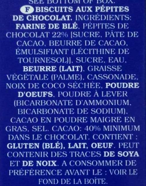 Chocolate Chip Cookies - Ingrediënten