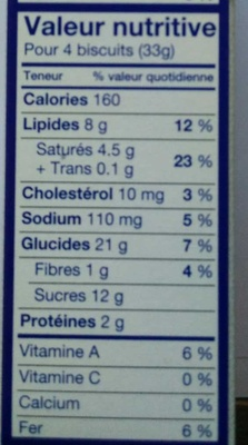 Chocolate Chip Cookies - Voedingswaarden