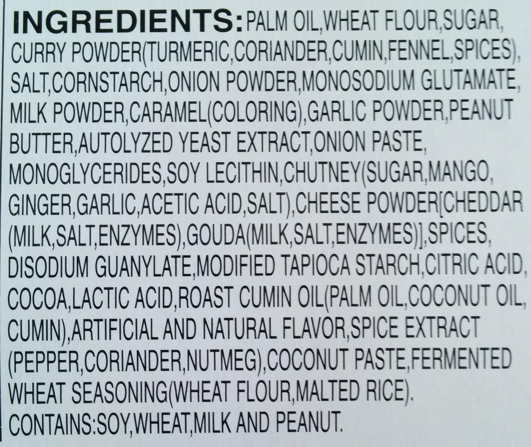 Java Curry Sace Mix - Ingrédients - fr