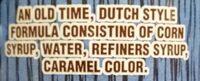 Dutch barrel table syrup - Ingredients - en
