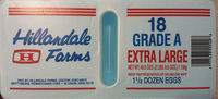 18 Grade A Extra Large Eggs - Product - en