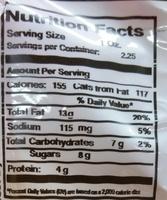 Honey Roasted Cashews - Nutrition facts - en