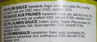Plum sauce - Zutaten - de