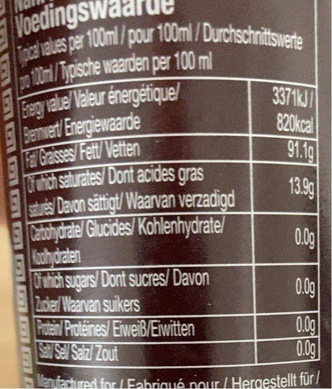 芝麻油 - Informations nutritionnelles - fr