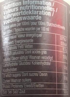 芝麻油 - Nutrition facts - zh