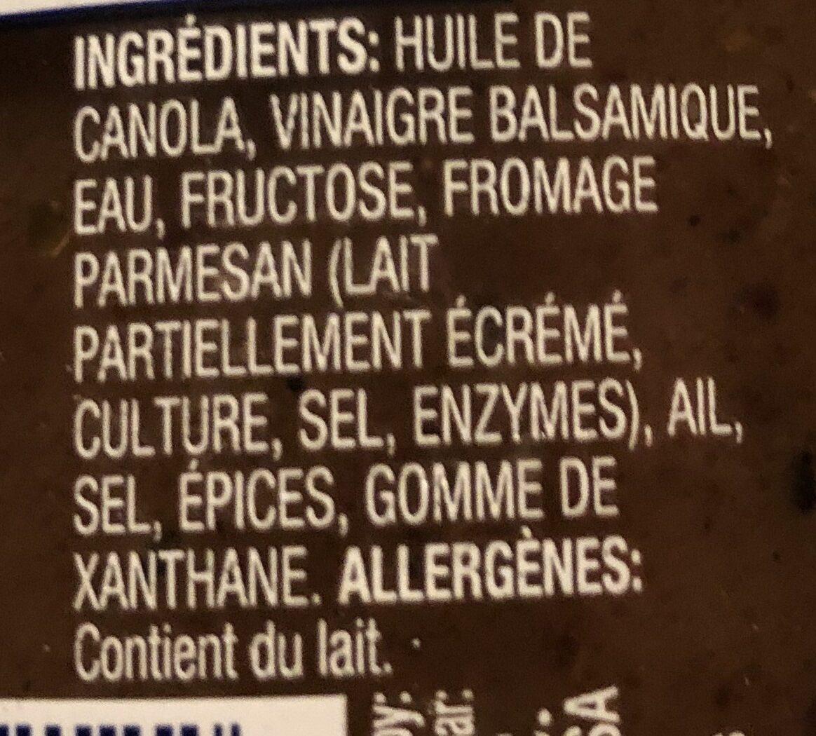 Vinaigrette balsamique - Ingrédients