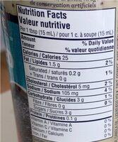 Vinaigrette graines de pavot - Informations nutritionnelles - fr