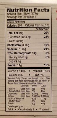 Bistro Santa Fe Style - Nutrition facts