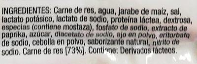 Johnsonville salchichas ahumadas de carne de res - Ingrediënten - es
