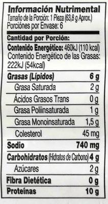 Johnsonville salchichas ahumadas con queso cheddar - Informations nutritionnelles