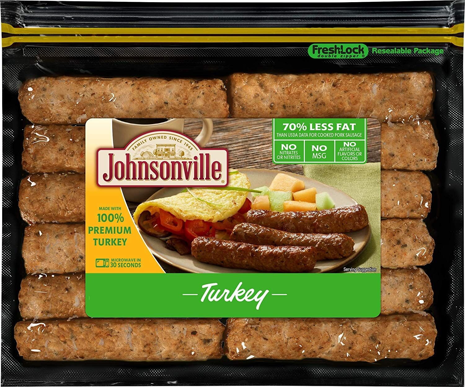Fully cooked breakfast sausage, turkey - Product - en