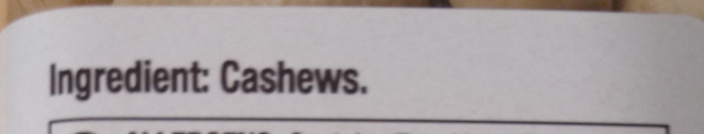 Raw Whole Cashews - Ingredienti - en