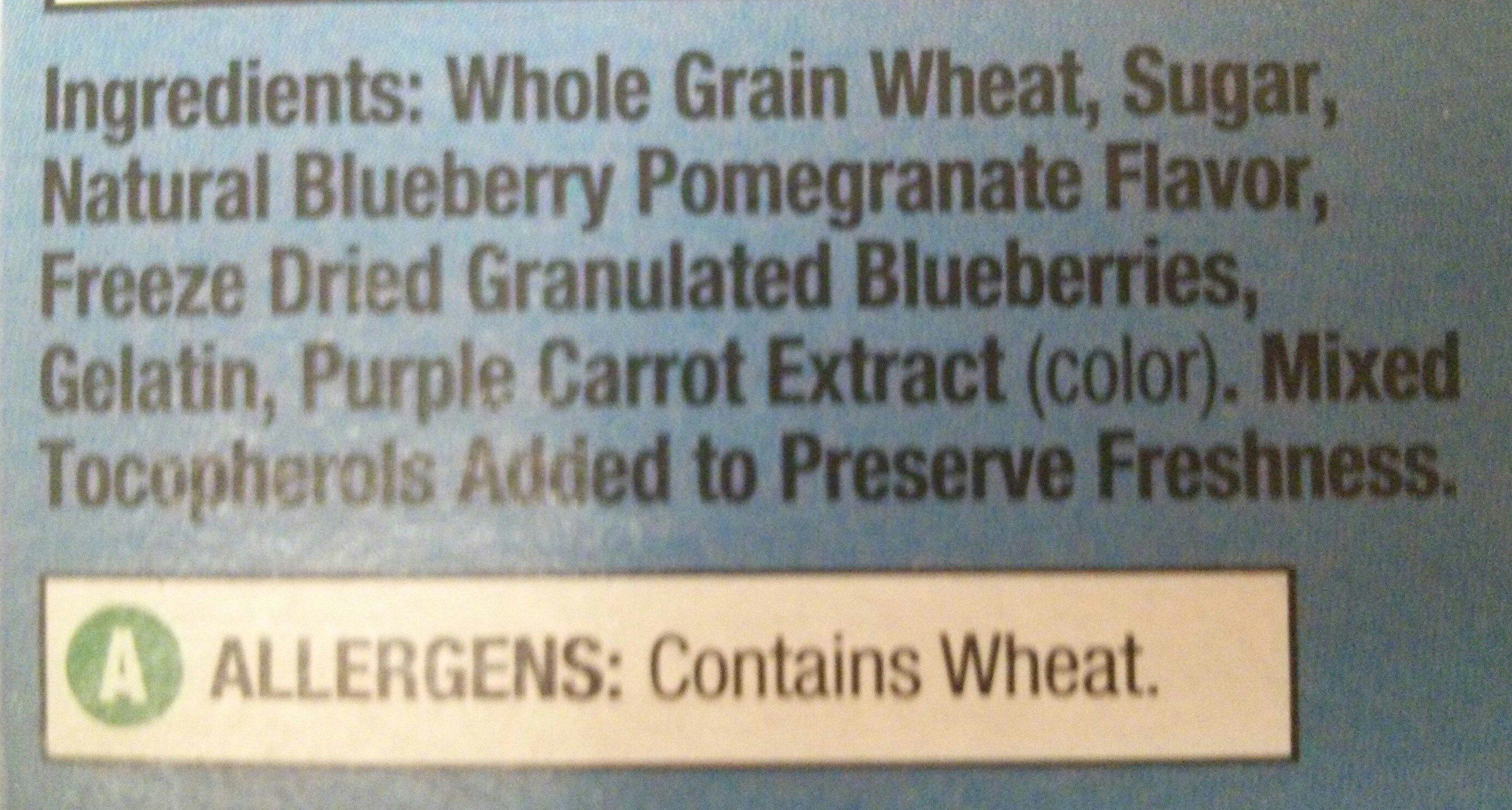 Frosted Bite-Size Blueberry Shredded Wheat - Ingredients - en