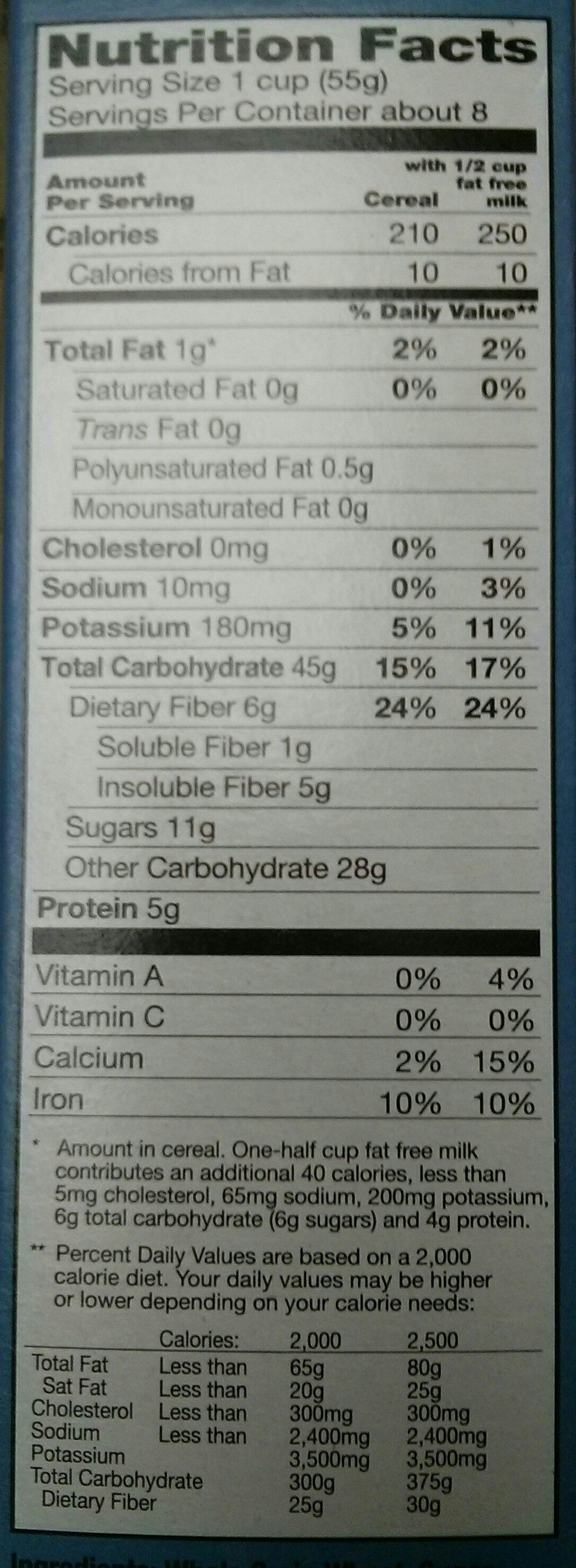 Frosted Bite-Size Blueberry Shredded Wheat - Nutrition facts - en