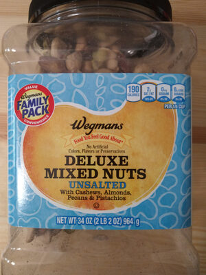 Deluxe mixed nuts unsalted - Product - en
