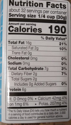 Deluxe mixed nuts unsalted - Nutrition facts - en