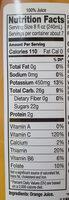 Premium 100% orange juice - Nutrition facts - en