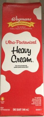 Grade a ultra pasteurized heavy cream - Product - en