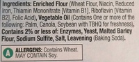 Original Saltines - Ingredients