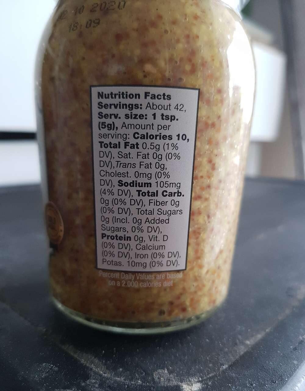 Wholegrain mustard - Nutrition facts - en