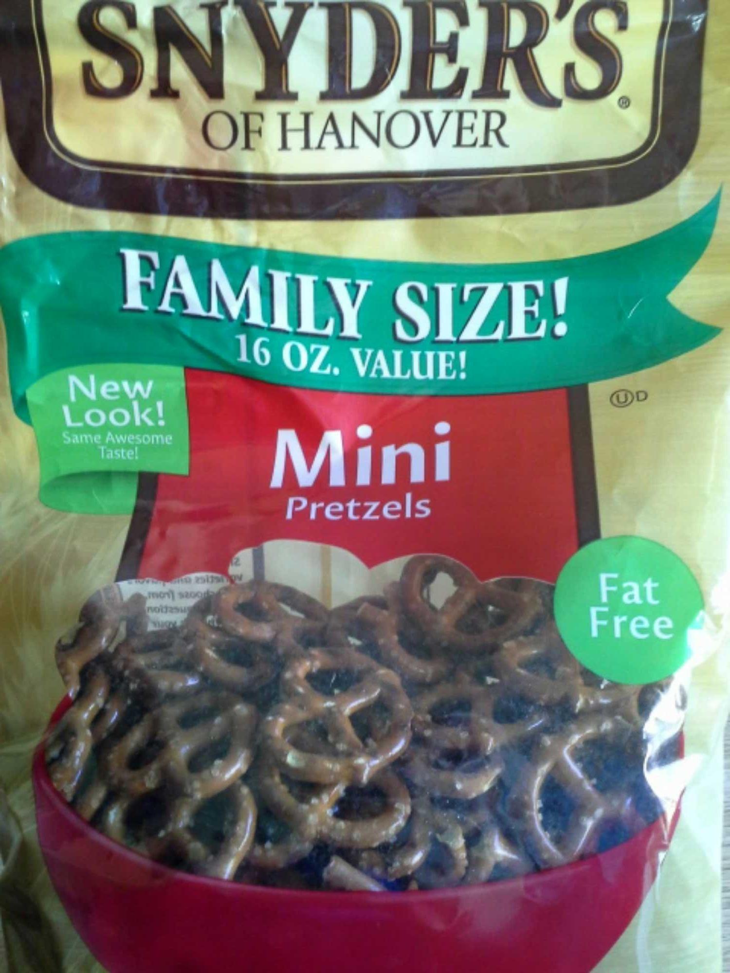 Snyder's of hanover, mini pretzels - Product - en