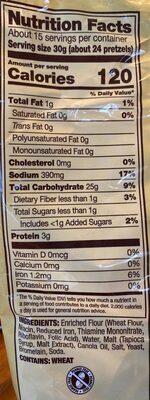 Pretzels snaps - Nutrition facts