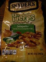 Snyder's of hanover, sourdough hard pretzel pieces, jalapeno, jalapeno - Produit - en