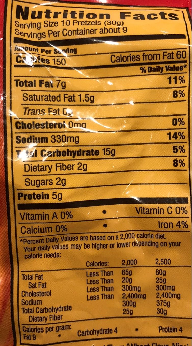 Filled Pretzel Pieces, Peanut Butter - Nutrition facts