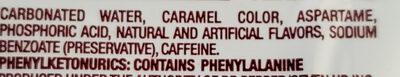 Diet dr pepper - Ingredients - en