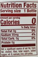 Diet dr pepper - Nutrition facts - en