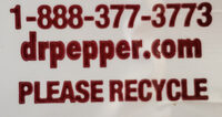 Diet dr pepper - Recycling instructions and/or packaging information - en