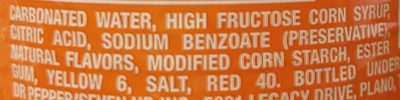 Crush Orange Soda - Ingredients