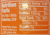Crush Orange Soda - Nutrition facts