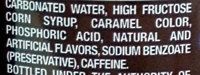 Dr. Pepper - Ingredients - en