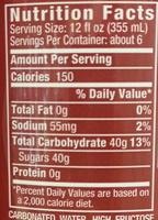 Dr. Pepper - Nutrition facts - en