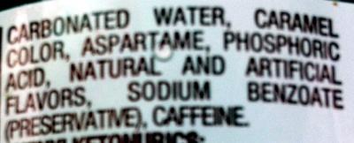 Diet dr pepper - Ingredienti - en