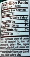 Diet dr pepper - Valori nutrizionali - en