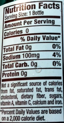 Dr Pepper Diet - Nutrition facts