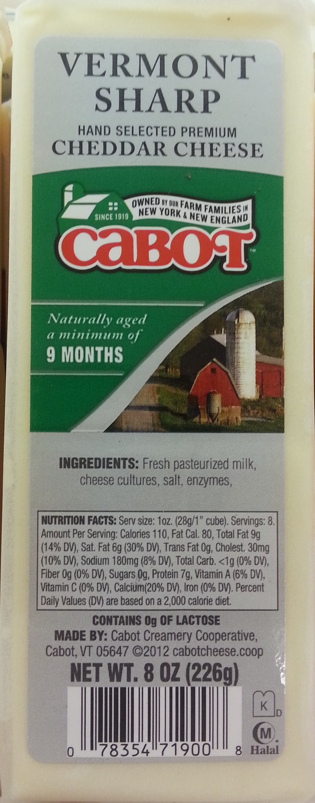 Cabot, vermont sharp, hand selected premium cheddar cheese - Product - en
