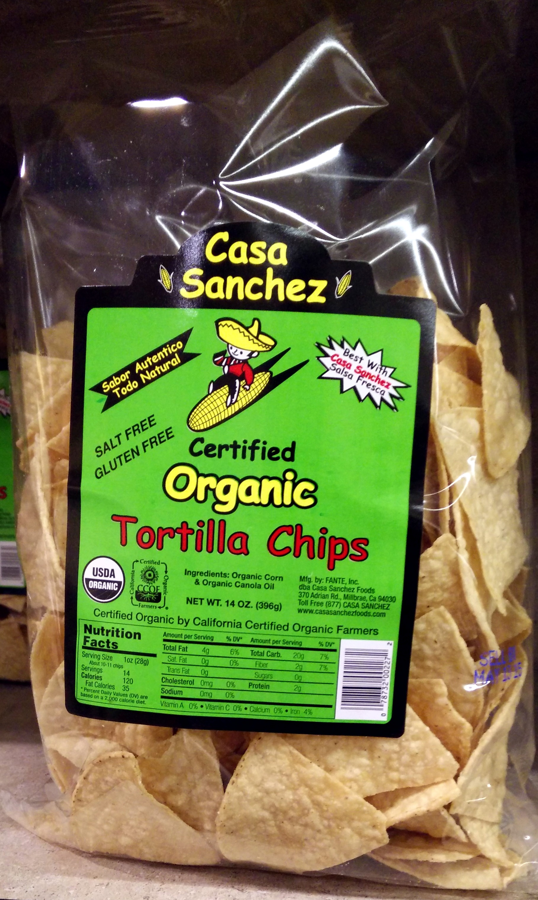 Certified Organic Tortilla Chips - Product - en