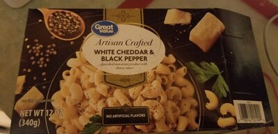 White cheddar & black pepper - Ingredients - en