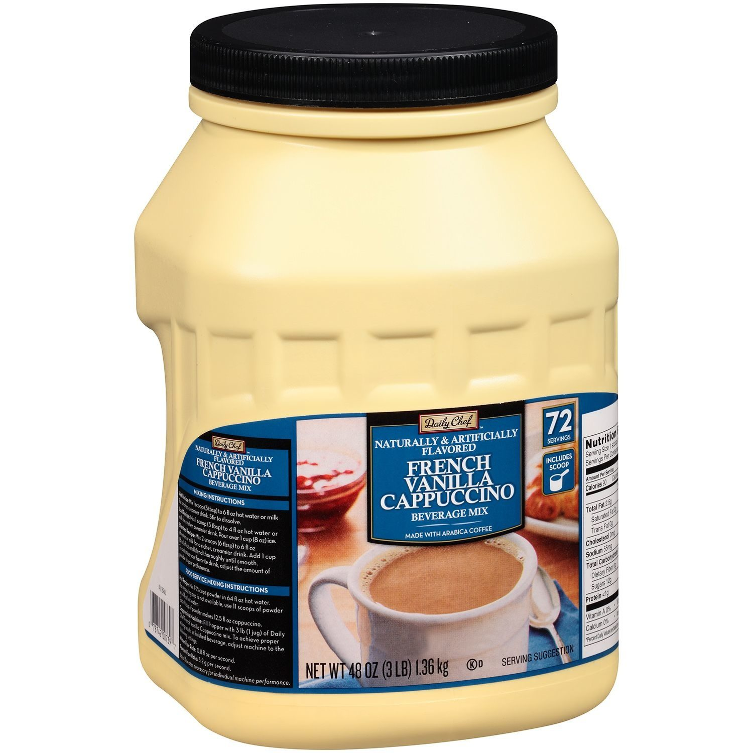Daily Chef Cappuccino Beverage Mix Coffee, French Vanilla - Product