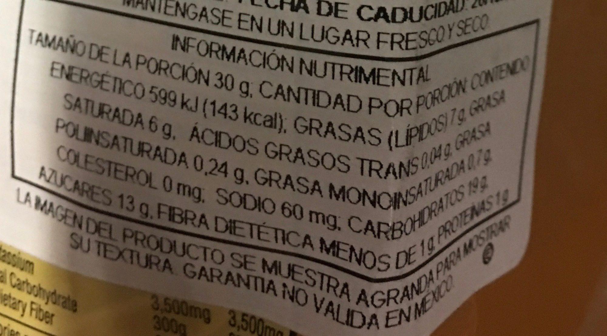 Caramel coconut & fudge cookies - Nutrition facts - es